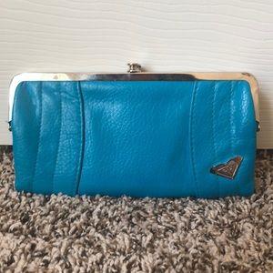 Roxy blue folding wallet